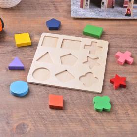 Diikamiiok Mainan Balok Puzzle 3D Geometry Anak - TOY09 - Red - 5