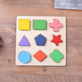 Diikamiiok Mainan Balok Puzzle 3D Geometry Anak - TOY09 - Red - 6