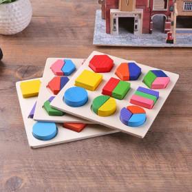 Diikamiiok Mainan Balok Puzzle 3D Geometry Anak - TOY09 - Red - 7