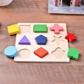Diikamiiok Mainan Balok Puzzle 3D Geometry Anak - TOY09 - Red - 8
