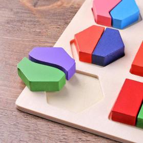 Diikamiiok Mainan Balok Puzzle 3D Geometry Anak - TOY09 - Red - 9