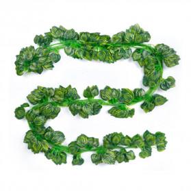 PULCHRITUDE Dekorasi Hiasan Cafe Wedding Ranting Daun Menjalar Artificial Green Leaf 2M - BB480 - Green - 4
