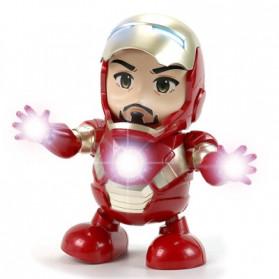 MEET MOOD Mainan Robot Dance Marvel Avenger Iron Man Dancing LED Light Music - M160 - Red - 2