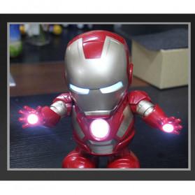 MEET MOOD Mainan Robot Dance Marvel Avenger Iron Man Dancing LED Light Music - M160 - Red - 3
