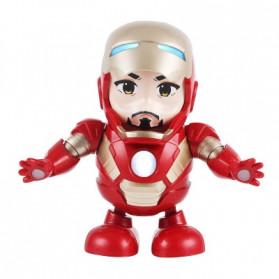 MEET MOOD Mainan Robot Dance Marvel Avenger Iron Man Dancing LED Light Music - M160 - Red - 4