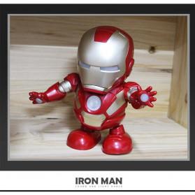 MEET MOOD Mainan Robot Dance Marvel Avenger Iron Man Dancing LED Light Music - M160 - Red - 6