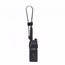 ABBREE Tactical Antena Dual Band 33cm AR-152A for Walkie Talkie Taffware Pofung Baofeng UV-5R UV-82 UV5R - Black - 3