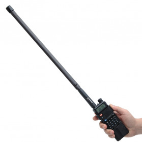 ABBREE Tactical Antena Dual Band 33cm AR-152A for Walkie Talkie Taffware Pofung Baofeng UV-5R UV-82 UV5R - Black - 5