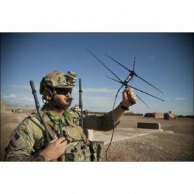ABBREE Tactical Antena Dual Band 33cm AR-152A for Walkie Talkie Taffware Pofung Baofeng UV-5R UV-82 UV5R - Black - 10