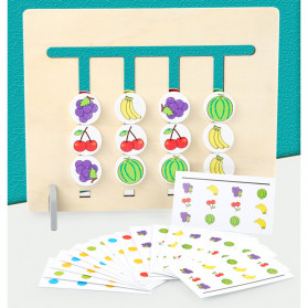 Candywood Mainan Puzzle Montessori Logical Educational Game - TM-5154 - Wooden - 8