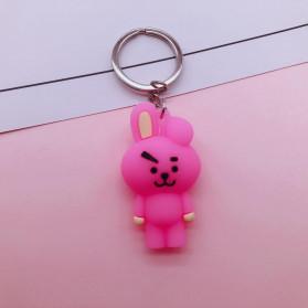 Gantungan Kunci Karakter COOKY BT21 BTS Bangtan Boys - H01 - Pink