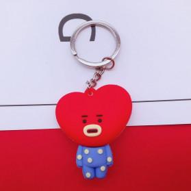 Gantungan Kunci Karakter TATA BT21 BTS Bangtan Boys - H01 - Red