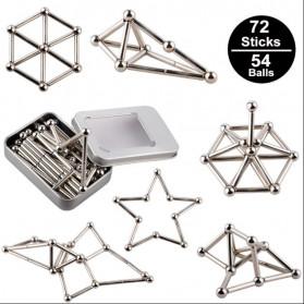 ZY Mainan Magnetik Steel Metalic Stick and Bucky Balls - J75 - Silver