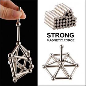 ZY Mainan Magnetik Steel Metalic Stick and Bucky Balls - J75 - Silver - 2