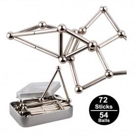 ZY Mainan Magnetik Steel Metalic Stick and Bucky Balls - J75 - Silver - 3