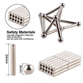 ZY Mainan Magnetik Steel Metalic Stick and Bucky Balls - J75 - Silver - 5