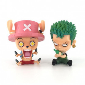Apaffa Action Figure One Piece Model Zoro Chopper 2 PCS - AP2 - 1