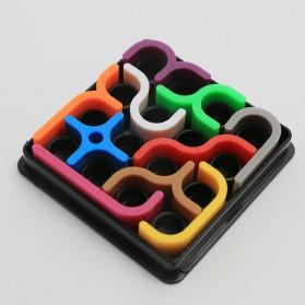 Fradoo Mainan Puzzle Anak Creative 3D Intelligence Crazy Curve Matrix Games - PC3D - Black - 2