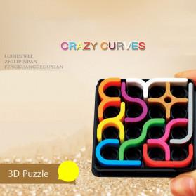 Fradoo Mainan Puzzle Anak Creative 3D Intelligence Crazy Curve Matrix Games - PC3D - Black - 3