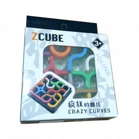 Fradoo Mainan Puzzle Anak Creative 3D Intelligence Crazy Curve Matrix Games - PC3D - Black - 6