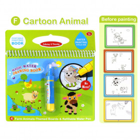 COOLPLAY Buku Mewarnai Cat Air Anak Magic Water Book - Gift-2358-1 - Blue - 2