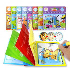 COOLPLAY Buku Mewarnai Cat Air Anak Magic Water Book - Gift-2358-1 - Blue - 4