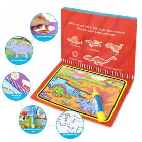 COOLPLAY Buku Mewarnai Cat Air Anak Magic Water Book - Gift-2358-1 - Blue - 5