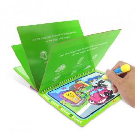 COOLPLAY Buku Mewarnai Cat Air Anak Magic Water Book - Gift-2358-1 - Blue - 6
