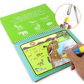 COOLPLAY Buku Mewarnai Cat Air Anak Magic Water Book - Gift-2358-1 - Blue - 7