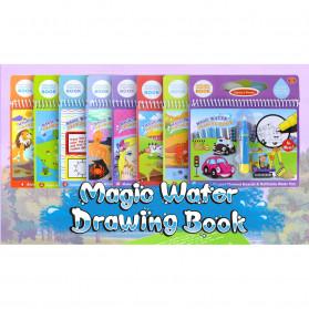 COOLPLAY Buku Mewarnai Cat Air Anak Magic Water Book - Gift-2358-1 - Blue - 8