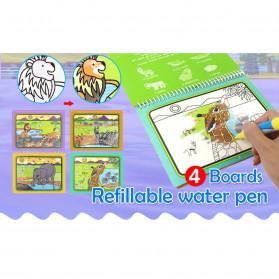 COOLPLAY Buku Mewarnai Cat Air Anak Magic Water Book - Gift-2358-1 - Blue - 9