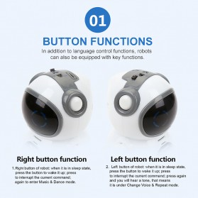 JIABAILE Mainan Robot Dance Interactive Talking Voice Recognition - 939A - White - 10
