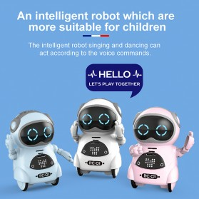 JIABAILE Mainan Robot Dance Interactive Talking Voice Recognition - 939A - White - 3