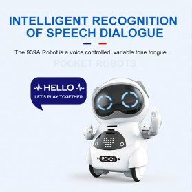 JIABAILE Mainan Robot Dance Interactive Talking Voice Recognition - 939A - White - 4