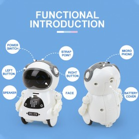 JIABAILE Mainan Robot Dance Interactive Talking Voice Recognition - 939A - White - 5