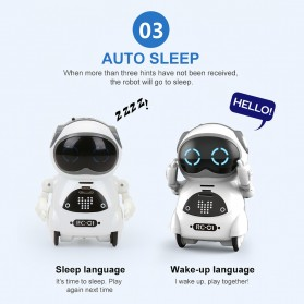 JIABAILE Mainan Robot Dance Interactive Talking Voice Recognition - 939A - White - 8