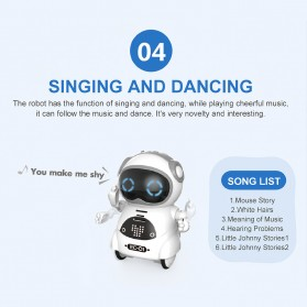 JIABAILE Mainan Robot Dance Interactive Talking Voice Recognition - 939A - White - 9