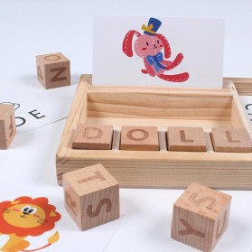 JOKEJOLLY Mainan Puzzle Spelling Words Montessori Educational Game - MT573 - Wooden - 2