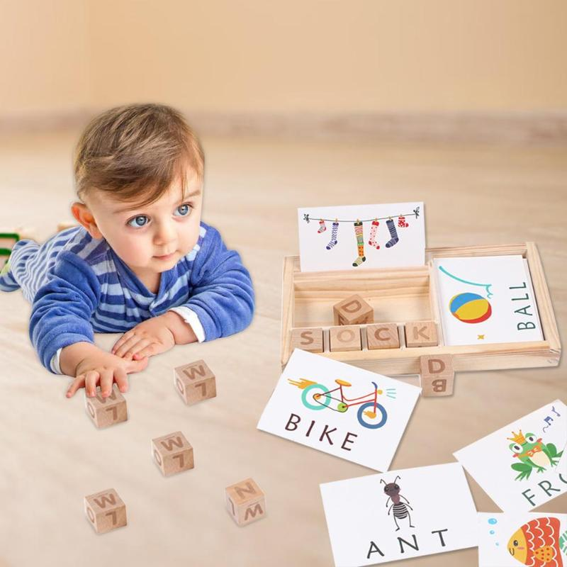 JOKEJOLLY Mainan Puzzle Spelling Words Montessori