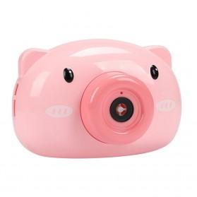 Mainan Gelembung Sabun Automatic Bubble Gun Model Pig Kamera - Pink - 2