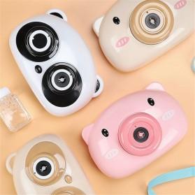 Mainan Gelembung Sabun Automatic Bubble Gun Model Pig Kamera - Pink - 4