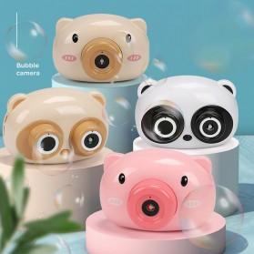 Mainan Gelembung Sabun Automatic Bubble Gun Model Pig Kamera - Pink - 5