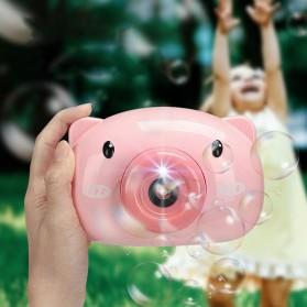 Mainan Gelembung Sabun Automatic Bubble Gun Model Pig Kamera - Pink - 6