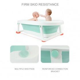 Beideli Bak Mandi Bayi Lipat Foldable Baby Bathtub - PJ4067 - Blue - 5