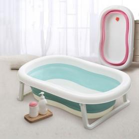 Beideli Bak Mandi Bayi Lipat Foldable Baby Bathtub - PJ4067 - Blue - 8