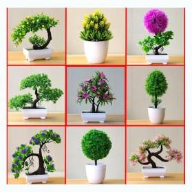 Fleur Tanaman Artificial Plants Decoration Bonsai Model Longsu Style - JM10 - Green - 2