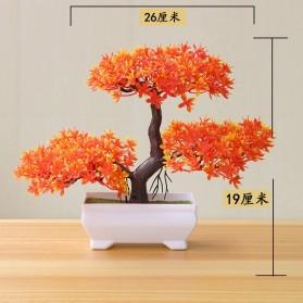Fleur Tanaman Artificial Plants Decoration Bonsai Model Longsu Style - JM10 - Green - 3