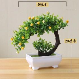 Fleur Tanaman Artificial Plants Decoration Bonsai Model Longsu Style - JM10 - Green - 5
