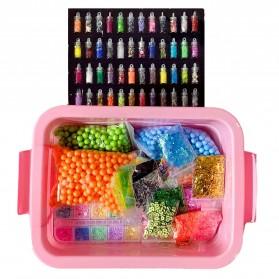 GISIGN Paket DIY Slime Kit Crystal Mud Mainan Kreativitas Anak - CN01 - Multi-Color