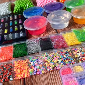 GISIGN Paket DIY Slime Kit Crystal Mud Mainan Kreativitas Anak - CN01 - Multi-Color - 6
